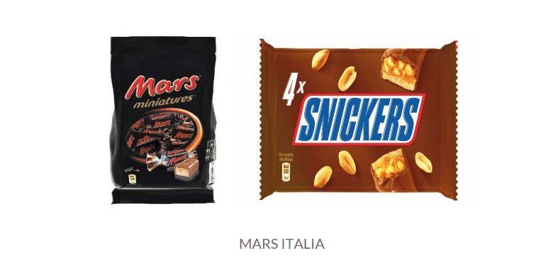 ritiro prodotti mars italia