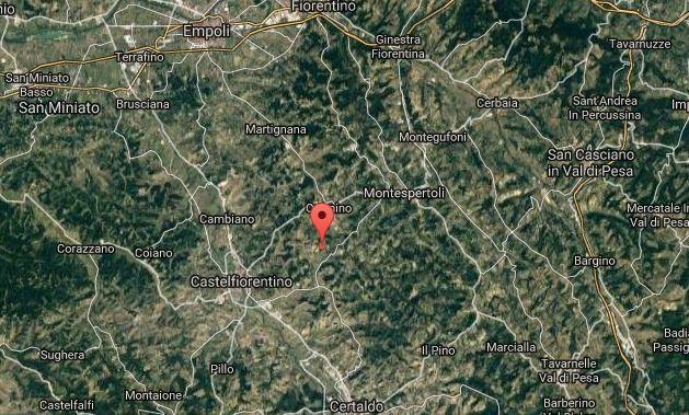scossa di terremoto vicino castelfiorentino