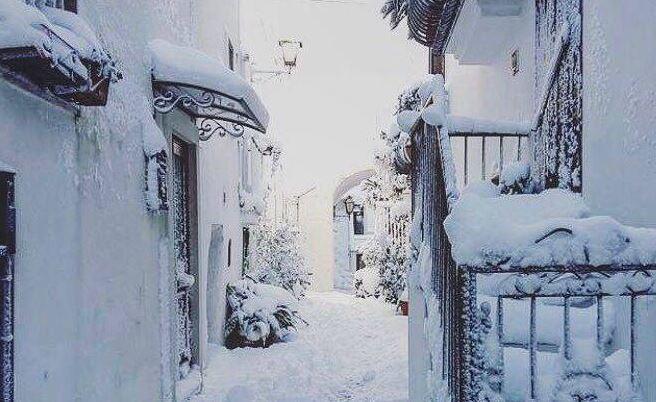 ancora nevicate sulla puglia 9 gennaio