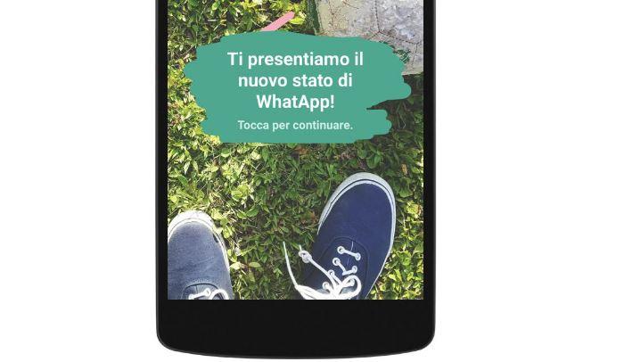 whatsapp con aggiornamenti di stato e videochiamate