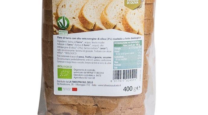 ritiro lotto di fette di pane