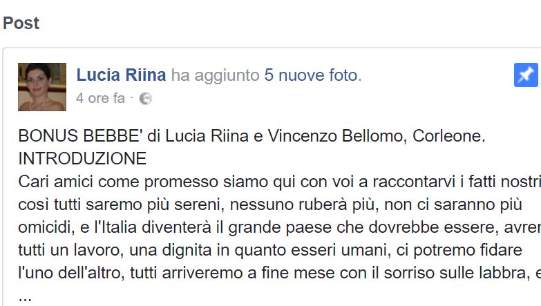 lucia riina minaccia revoca cittadinanza italiana