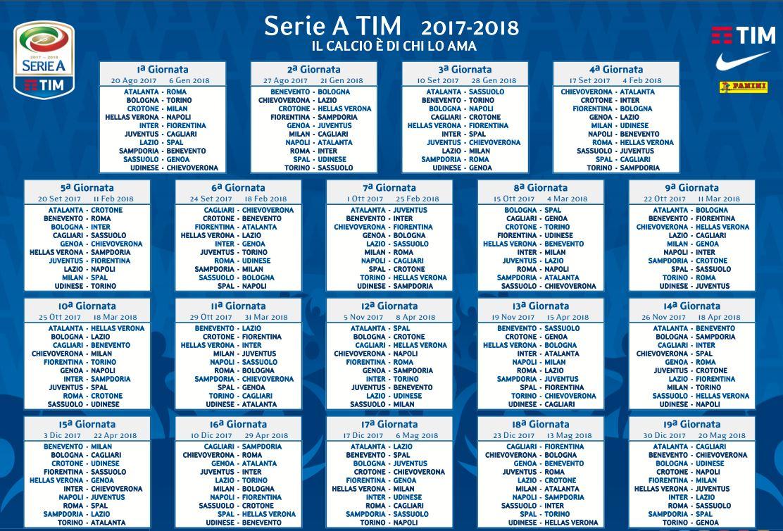 calendario stampabile serie a 2017-2018