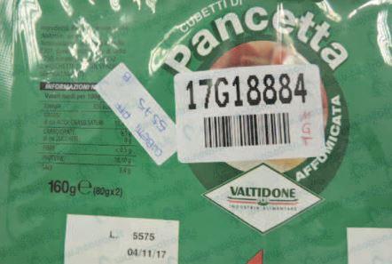 salmonella nei cubetti di pancetta