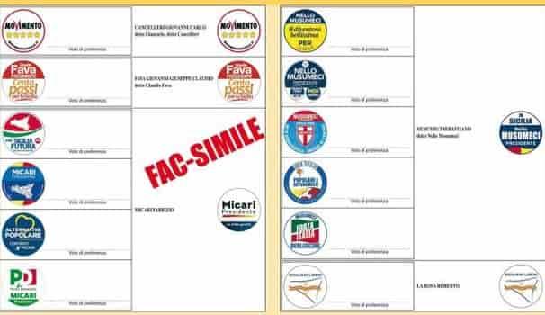elezioni regione sicilia come votare