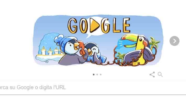 buone feste dal doodle google