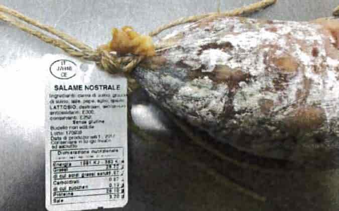 salame nostrale richiamato per salmonella