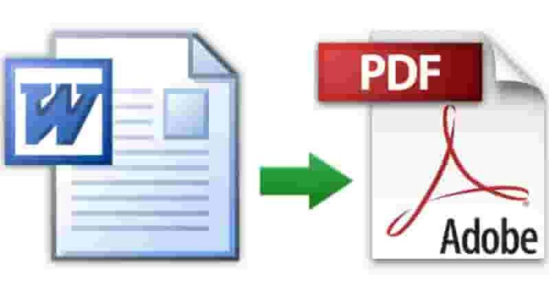 convertire un file word in pdf