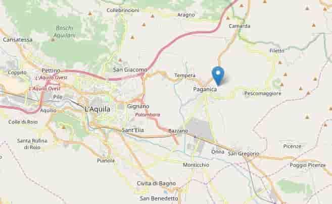 terremoto abruzzo sabato 31 marzo 2018
