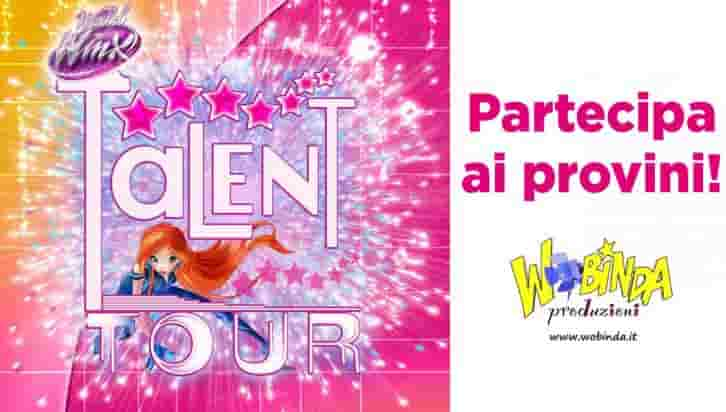 casting winx talent tour maggio 2018