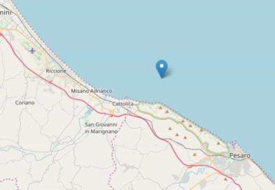 Terremoto mare Adriatico 12 maggio 2018 | Scossa tra Pesaro e Cattolica