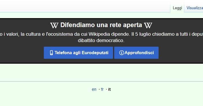 wikipedia e stata oscurata