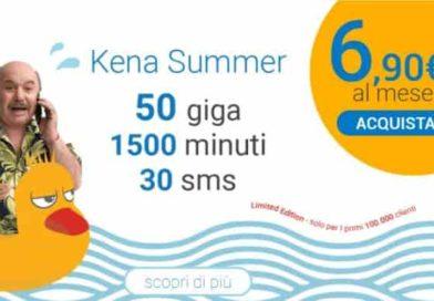 Kena 50GB sfida Iliad | L'offerta Summer prosegue ma in 3G, ecco i dettagli dell'offerta