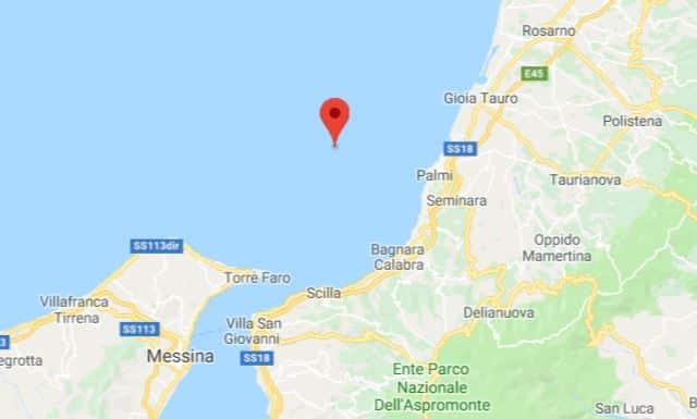 terremoto costa calabra 28 settembre 2018