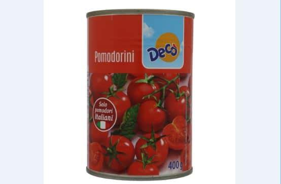 decò ritira pomodorini dagli scaffali