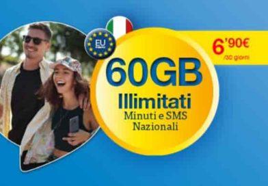 LycaMobile 60 Gigabyte | L'offerta su rete 4G/LTE con minuti e SMS illimitati a 6,90€ al mese