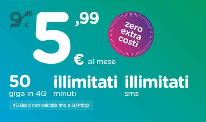 Ho. Mobile 50 GB a 4,99 euro