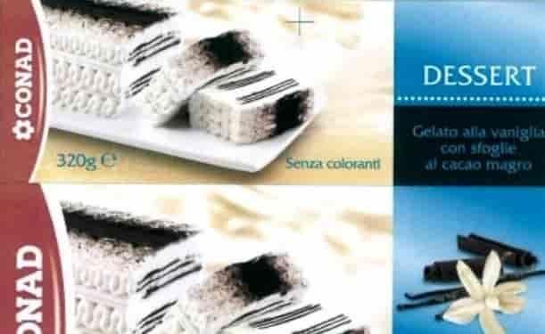 dessert alla vaniglia conad ritirato
