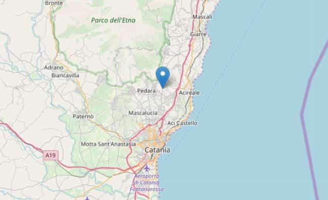 sciame sismico catania oggi